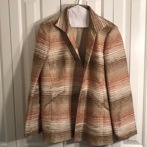 Ellen Tracy size 14 beautiful textured jacket